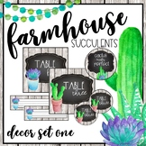 Farmhouse Succulent Classroom Decor Set One