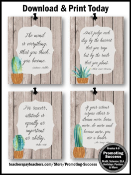 Farmhouse Succulent Decor Set 10, Inspirational Posters