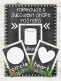 Farmhouse & Succulent Shape Posters