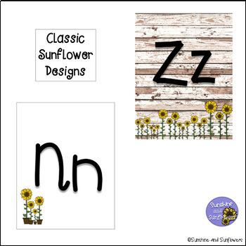 Farmhouse Sunflower Themed Alphabet