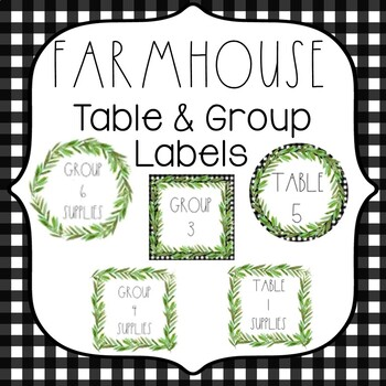 Farmhouse Table & Group Labels {Farmhouse Classroom Decor}