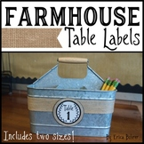 Farmhouse Table Labels