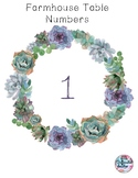 Farmhouse Table Numbers