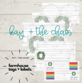 Farmhouse Tags, Name Tags, Signs, + Labels