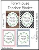 Farmhouse Teacher Binder EDITABLE
