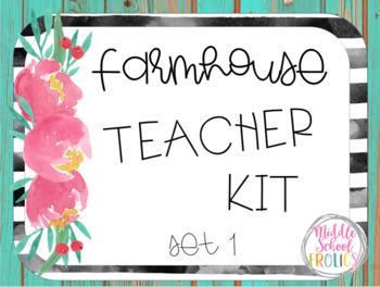 Farmhouse Teacher Kit Set 1