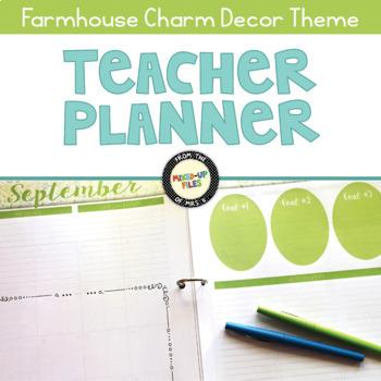 Farmhouse Teacher Planner