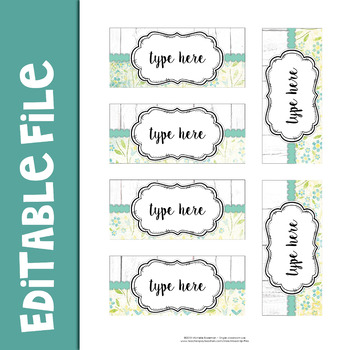 Farmhouse Teacher Toolbox Labels
