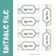 Farmhouse Teacher Toolbox Labels Editable