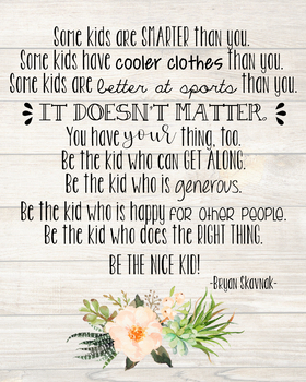 Farmhouse 'The Nice Kid' Quote