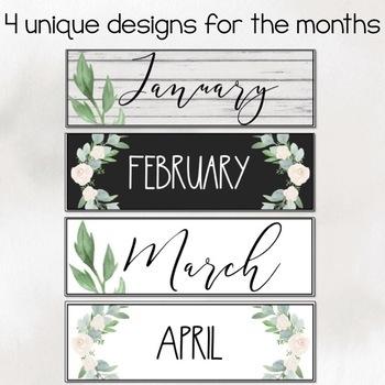 Farmhouse Theme Calendar