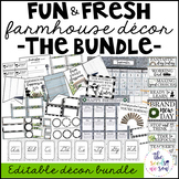 Farmhouse Theme Classroom Decor: The Bundle
