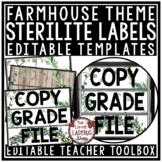 Farmhouse Theme Classroom-Mailbox Labels 3 Drawer Sterilite Labels Editable