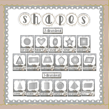 Farmhouse Theme Colors, Numbers, & Shapes with Tin, Shiplap & Cotton
