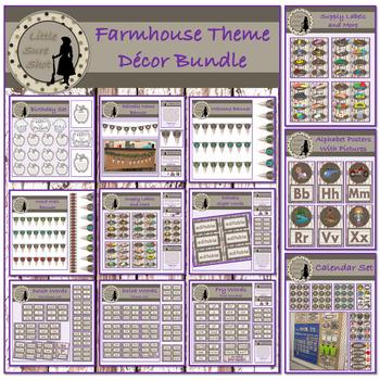 Farmhouse Theme Decor Bundle Package!