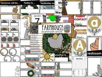 Farmhouse Theme Decor {Expansion Pack}