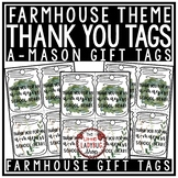 Farmhouse Theme End of Year Gift Tags