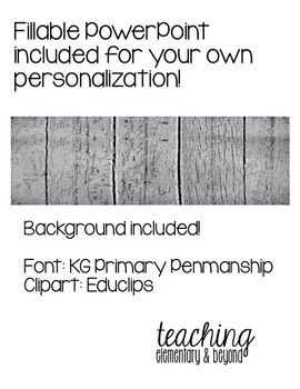 Wooden Farmhouse Theme Classroom Schedule Cards