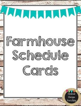 Farmhouse Theme Schedule Cards