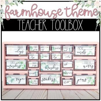 Farmhouse Theme Teacher Toolbox