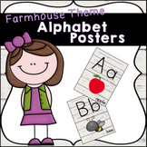 Farmhouse Themed Alphabet Posters with Lines