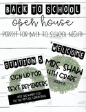 Back To School Night | Meet the Teacher | Parent Stations | Farmhouse Themed