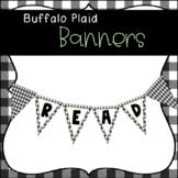 Farmhouse Themed Buffalo Plaid Banners