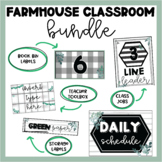 Farmhouse Themed Bundle | Labels | Class Jobs | Book Bins | Schedule | Toolbox