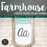 Farmhouse Themed Cursive ABC Banner