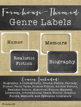 Genre Labels Farmhouse Themed