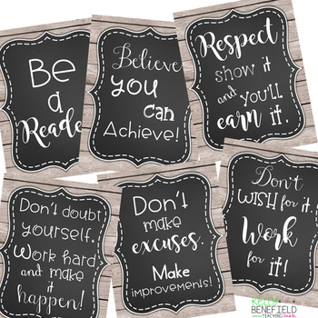 Farmhouse Classroom Decor: Motivational Posters
