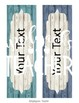 Farmhouse Themed Name Plates for Desktops and Chairs