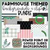 Farmhouse Themed Slide Backgrounds | Clip Art| Google Slid