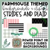 Farmhouse Themed Stripes and Plaid Slide Backgrounds | Cli