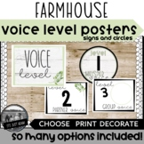Farmhouse Voice Level Chart  l  Shiplap Voice Level Poster