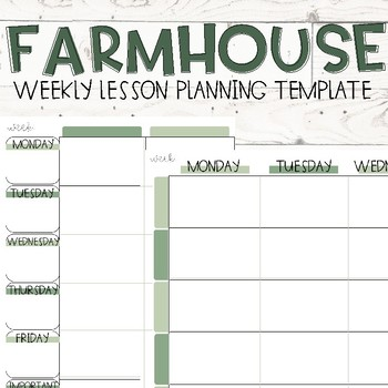 Lesson Plan Template Editable One Lesson Teaching Resources