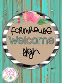 Farmhouse Welcome Sign - Set 1