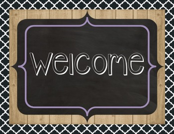 Farmhouse Welcome to Our Classroom Sign