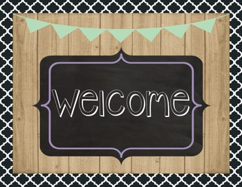 Farmhouse Welcome to Our Classroom Bulletin Board