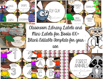 Farmhouse: Whimsical Library Labels