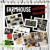 Farmhouse White Shiplap Decor Bundle - Editable