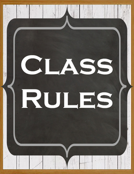 Farmhouse Whole Brain Teaching Class Rules