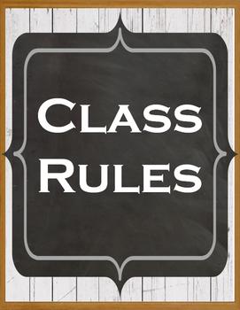 Farmhouse Whole Brain Teaching Class Rules