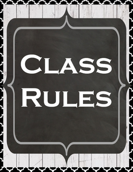 Farmhouse Whole Brain Teaching Class Rules Option 2