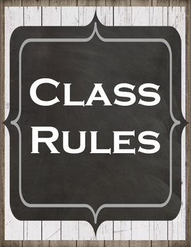 Farmhouse Whole Brain Teaching Class Rules Option 4