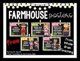 Farmhouse - Whole Brain Teaching Rules - White Shiplap