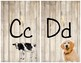Farmhouse Wood Alphabet and Word Wall Letters