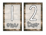 Farmhouse Wood & Rustic Table/Centre Numbers 1-10