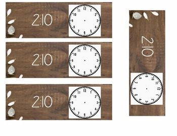 Farmhouse Wood and Succulent Style Calendar and Daily Schedule