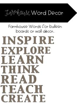 Farmhouse Word Decor